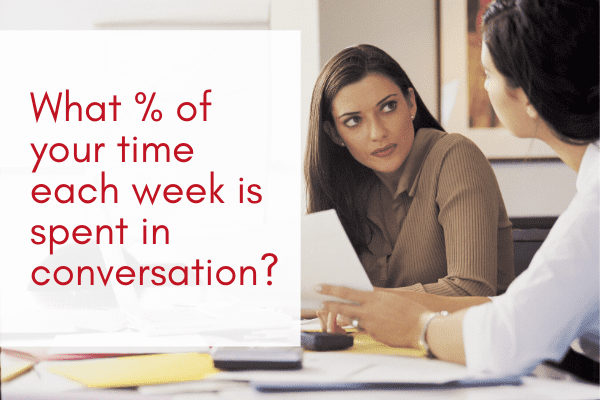 What-percent-of-your-time-each-week-is-spent-in-conversation